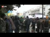Возле Верховной Рады начался многотысячный митинг УКРОПА в поддержку полной экономической блокады оккупированных районов Донбасс