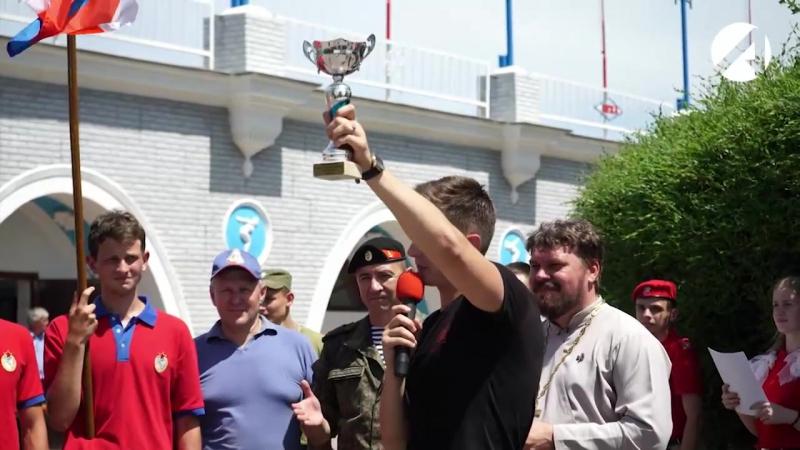 В Астрахани состоялась военно-спортивная эстафета Юный морпех