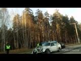 Мощное ДТП Новая - Щелкина. 17 октября 2017. Снежинск