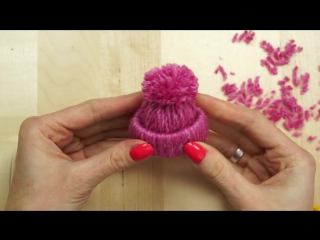Little Yarn Hats Ornament Tutorial