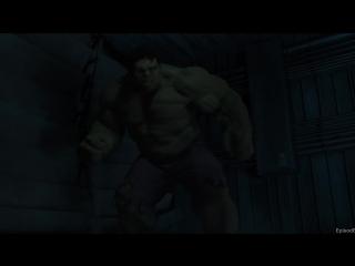Халк против Тора (Бой на Геликарриере) ¦ Мстители