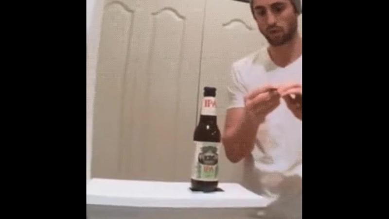 Как открыть пиво с помощью магнита и монеты