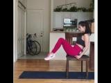 Домашняя тренировка со стулом!?
