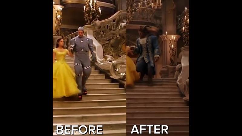 Красавица и Чудовище до спецэффектов - Beauty and the Beast Before CGI