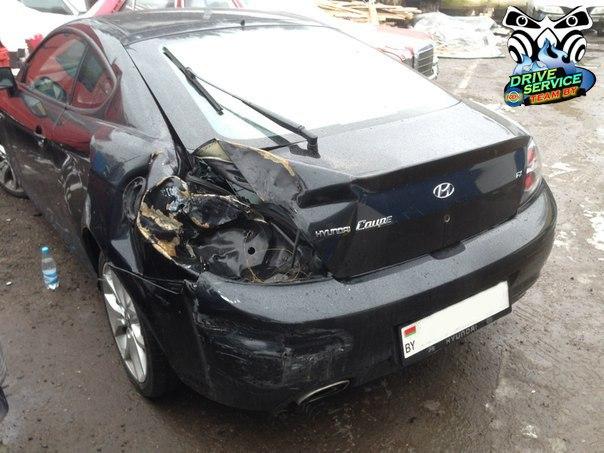 ремонт после аварии  хендай  Hyundai Coupe