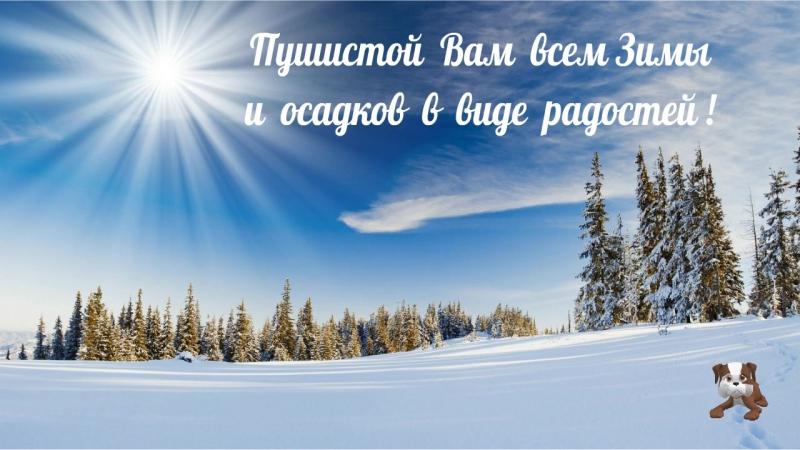 Пушистой Вам всем зимы и осадков в виде радостей !