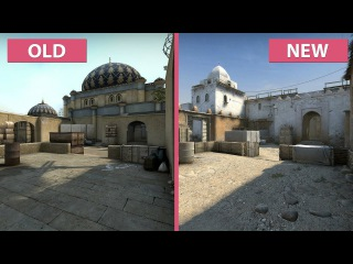 CS:GO – Dust 2 Old vs. New Graphics Comparison with Frame Rate 4K UHD