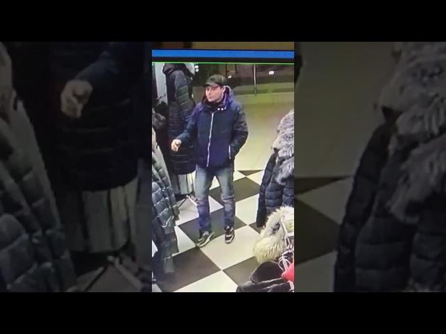 Наглый вор в магазине! г. Уфа центральный рынок.