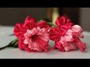 Цветок эльфов - ФУКСИЯ канзаши из лент, мастер класс / DIY Ribbon Flower Kanzashi