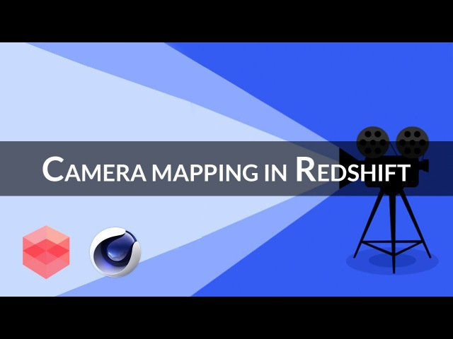 Camera mapping with redshift alpha [CINEMA4D TUTORIAL]