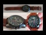 Часы Curren Командирские 46мм Красные Стрелки