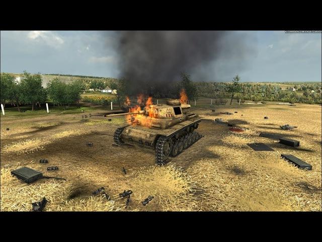 ЖЕСТКИЙ ТАНКОВЫЙ БОЙ в Реалистичной Игре про Войну ! Graviteam Tactics Mius-Front