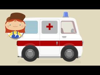 Doutora McWheelie🚑 A ambulância🚑 Desenhos animados de carros para crianças. Portuguese cartoons