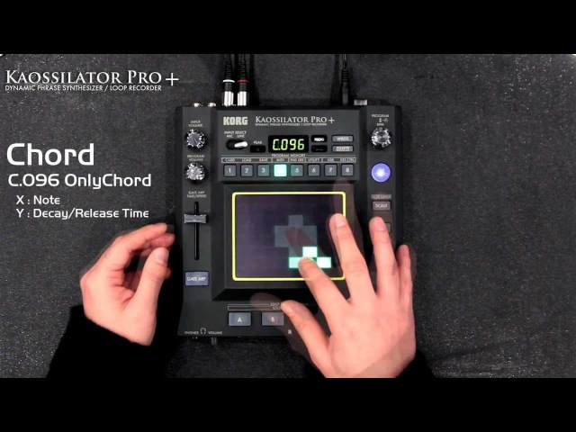 KORG KAOSSILATOR PRO (2/3) New Sounds : Chord / SE