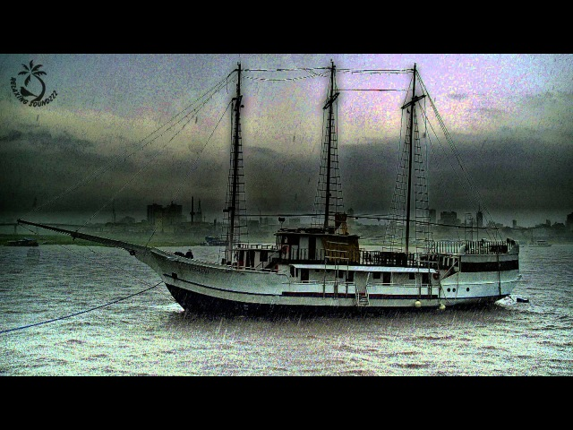 🎧 Sailing Ship in Thunderstorm Sound - Sounds Of Thunder, Ocean, And Seagulls for Relaxation