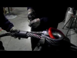 Плетение концевой петли со втулкой на стальном тросе