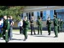 выход 12 роты с казармы на присягу (мотострелки Елань 2017 г.)