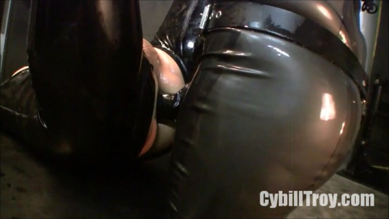 Ass to Mouth Rubber Fucker Mistress Cybill Troy Leather Fem Dom Anal Facesitting Strap On Latex Fetish BDSM
