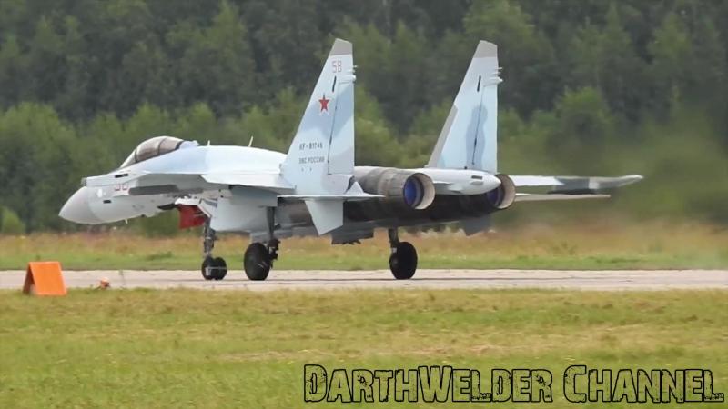 Су-35С «Соколы России» в ходе «Армии-2017». Высший Пилотаж. Воздушный бой. Взлёт и посадка. Кубинка. 2K 1440p