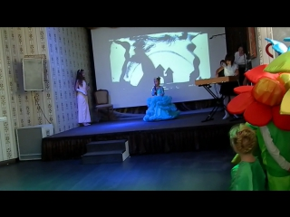 Аришка в мюзикле Снежная королева) в роли принцессы)