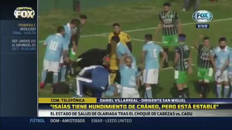 В матче чемпионата Аргентины судья спас жизнь футболисту