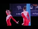 Ученицы студии, дуэт Семенова Анна и Сайтхужина Альфина, Aerial Silks (воздушные полотна)