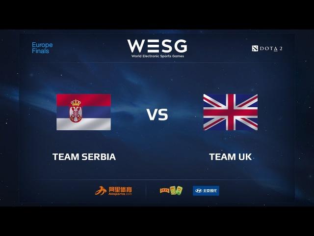 Team Serbia vs Team UK, WESG 2017 Dota 2 European Qualifier Finals