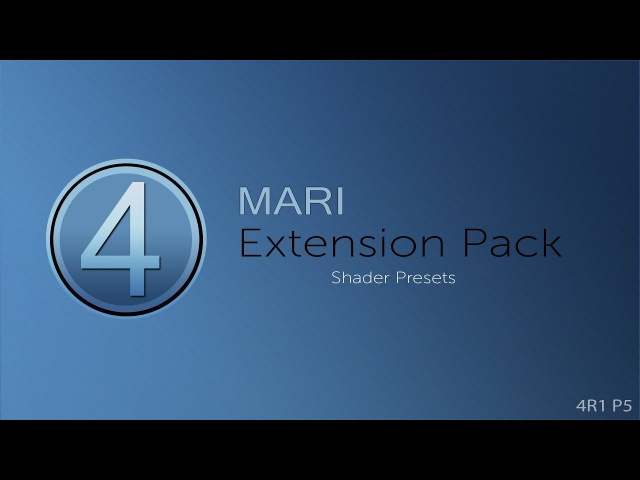 Mari Extension Pack 4: Shader Presets (with Update 5 Sneak Peak)