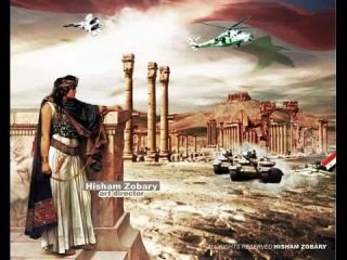Пальмира: Воздушный парад ВКС РФ, смотр сил Армии Сирии и концерт
