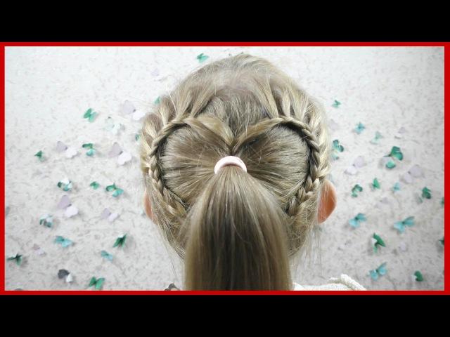 Прическа для девочек за 5 минут. Hairdress for girls in 5 minutes.