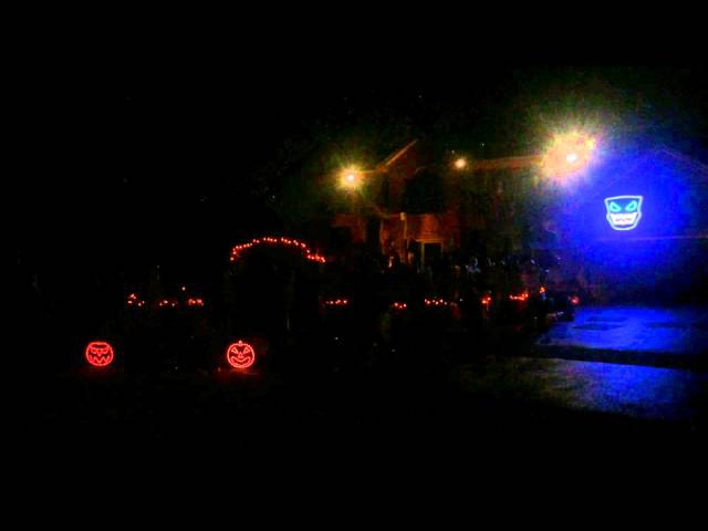 LCD Soundsystem, Someone Great. Halloween Light Show 2014. Thomas Halloween Naperville