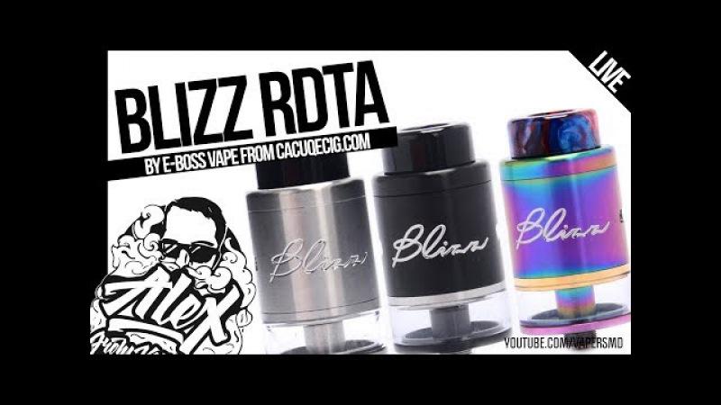 E Boss Vape BLIZZ RDTA l from l Alex VapersMD review 🚭🔞