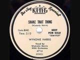 WYNONIE HARRIS Shake That Thing 78 1954