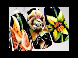 Супер Дизайн ногтей гель лаком цветок роза. Учимся рисовать этот простой и модны...