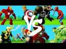 Железный человек VS Капитан Америка, Веном VS Человек Паук, Тор VS Локи, Халкбастер V...