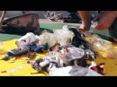 Bucket that sucks garbage out of ocean