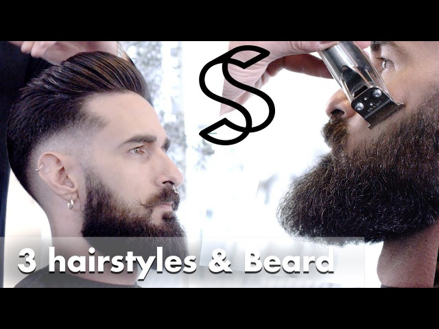 Skin fade Haircut beard trim and 3 hairstyles in 4K quality from Slikhaar Studio