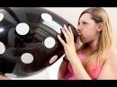Hot girl blow to pop big balloon
