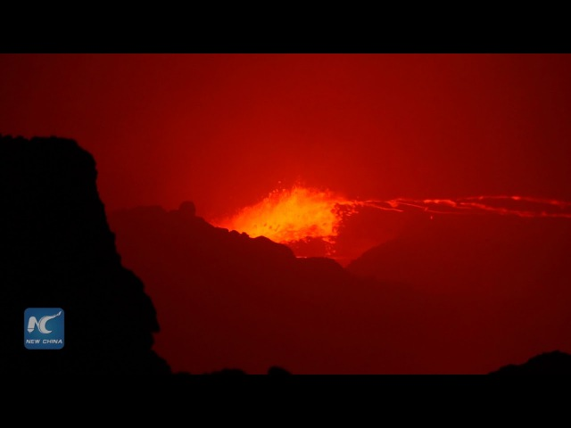 Erta Ale active volcano,the gateway to Hell