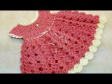 Learn How To #Crochet Strawberry Shortcake Baby Dress 0-6 months TUTORIAL #375