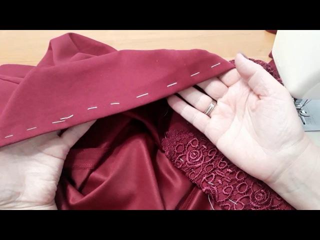 Обработка низа платья. Как обработать готовое изделие