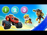 Numbers PAW Patrol, Blaze. Camp Count and Play. Fun Videos For Kids