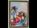 Мастер-класс создание картины Зонт и розы из солёного теста.