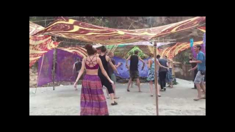 Dj Solnce in the Mix @ Masala Dance Private Party, Sweet Lake, Arambol, Goa, 30.03.2017 Video Part 2