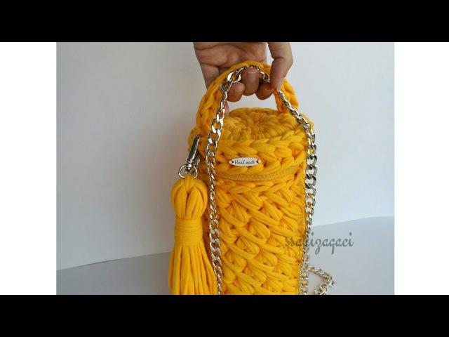 Silindir çanta yapımı penye ipten