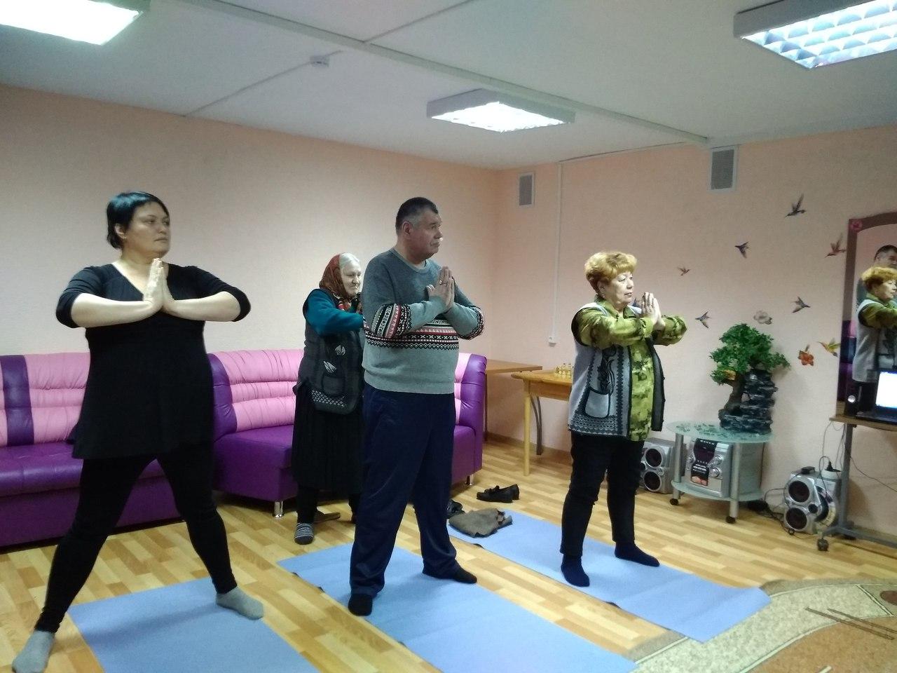 в Доме-интернате для престарелых и инвалидов «Зеленый город» проект «Йоги все возрасты покорны»