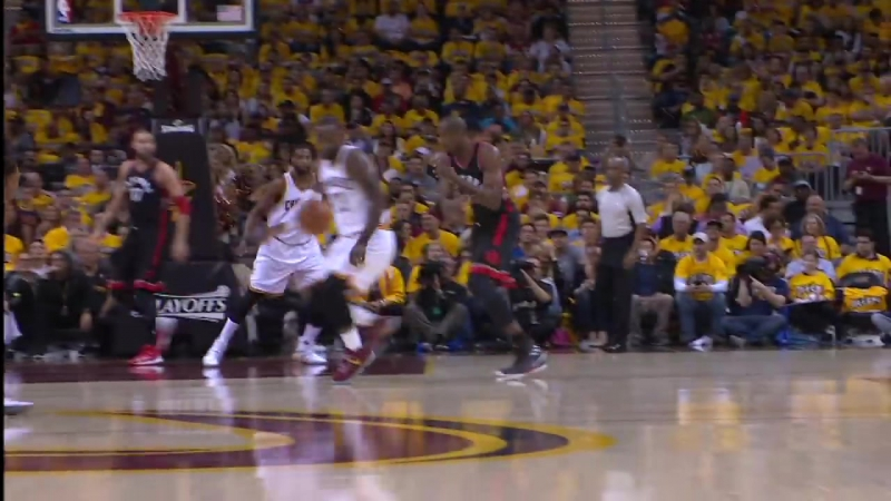 Kyrie and LeBron Connect for Off the Glass Alley-Oop May 1,