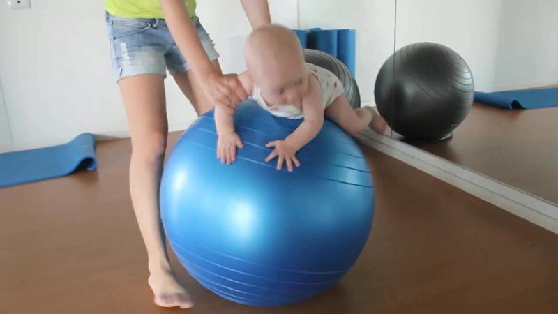 Фитбол для детей 6 месяцев Наши упражнения на мяче