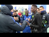 Paul Pogba's got a handshake for (almost) every France player