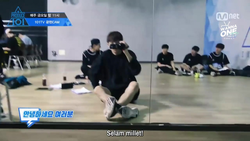 170512 [101 Self Cam] Produce 101 Relay Cam - Hyungseob Gwanghyun Yehyeon (Türkçe Altyazılı)
